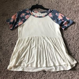 FLORAL BABY DOLL TOP